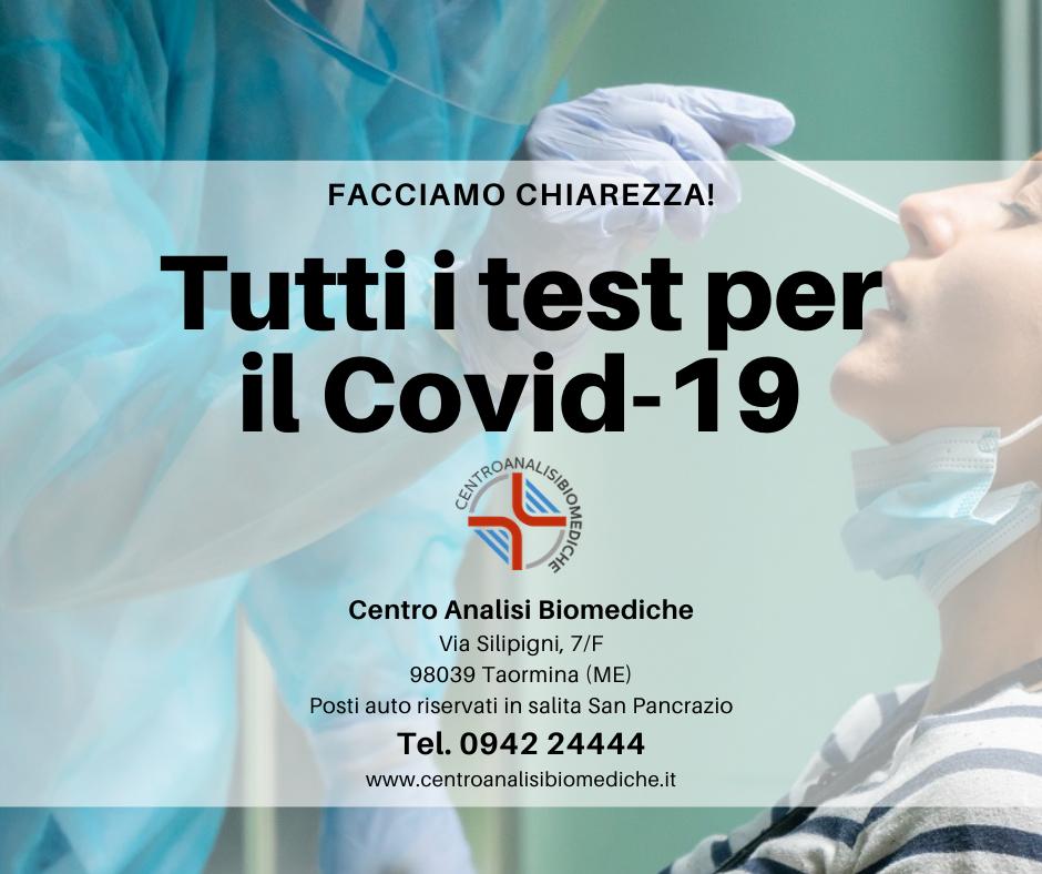 Centro Analisi Biomediche Taormina Test covid19